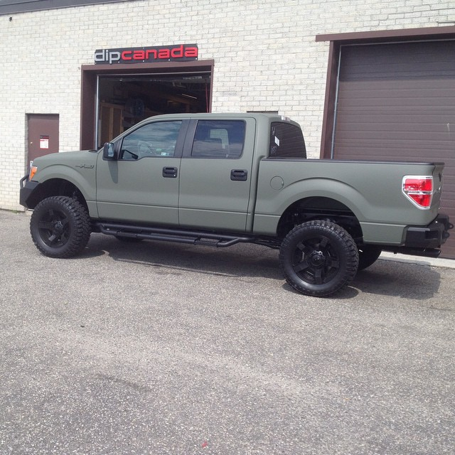 camo green Ford