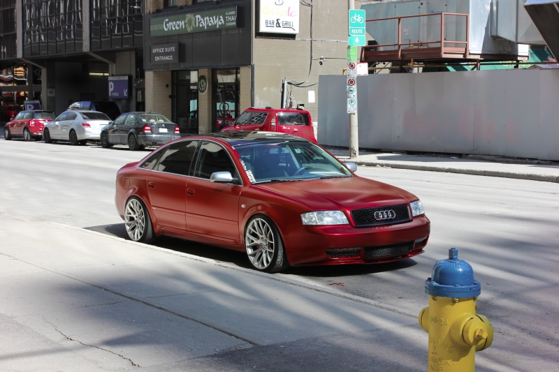 Volcano red pearl with top coat Audi A6