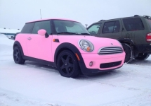 custom FL pink Mini Cooper