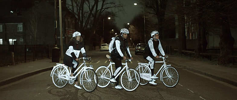 cyclists ready for night riding